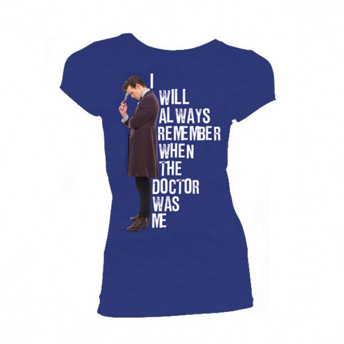 Doctor Who I Will Always Remember When The Doctor Was Me Women's Juniors T-Shirt