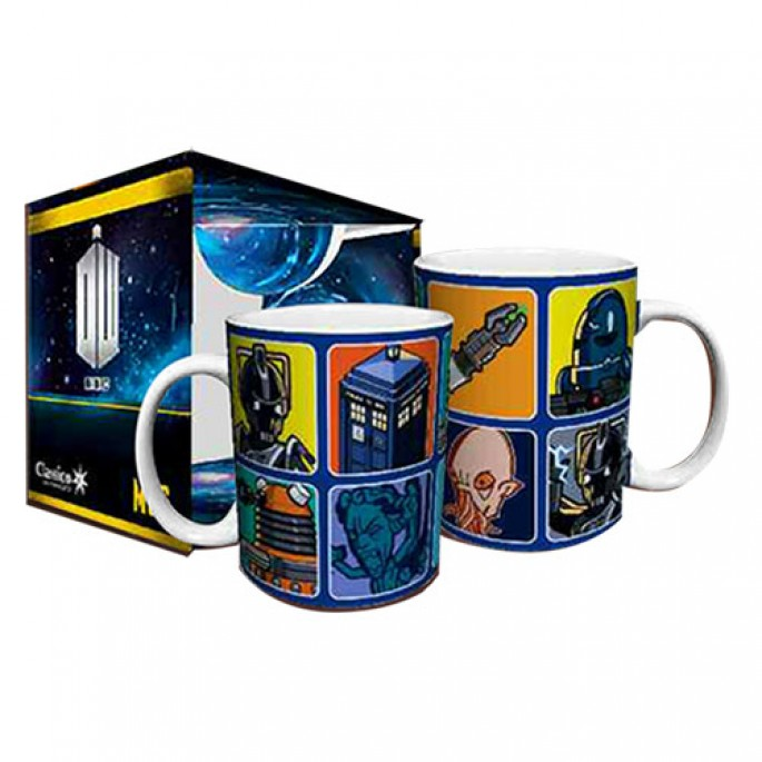 Doctor Who Illustrated Characters Boxed Gift Mug
