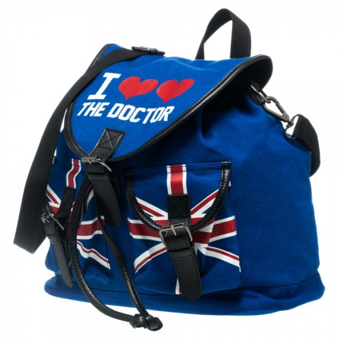 Doctor Who I Heart The Doctor Knapsack