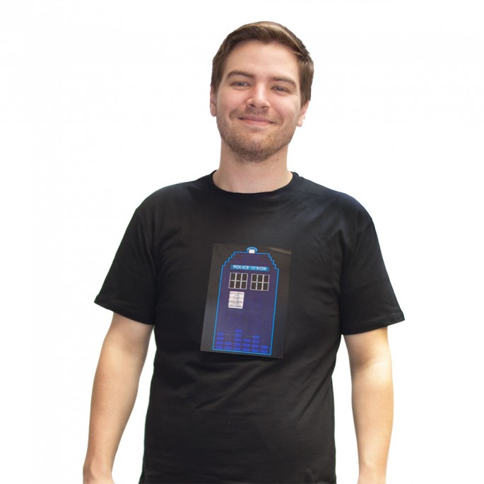Doctor Who LED Tardis Light Up  Adult T-Shirt
