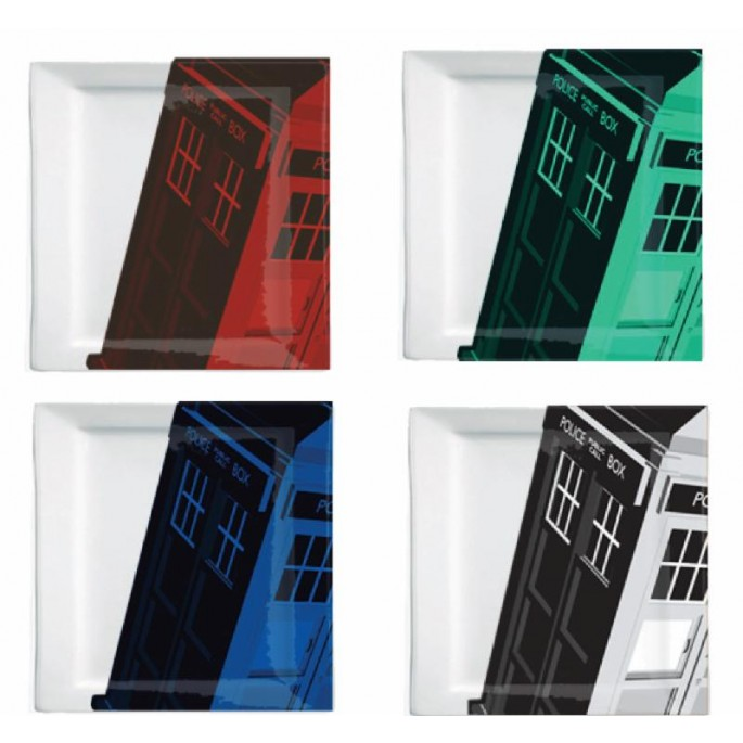 Doctor Who Tardis Plate Set