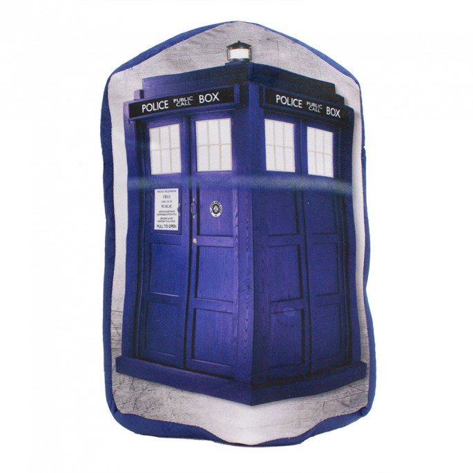 Doctor Who Tardis Reversible Photo Design 18x12 In Throw Pillow
