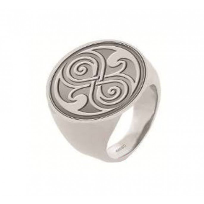 Doctor Who Seal of Rassilon Signet Ring Size 8