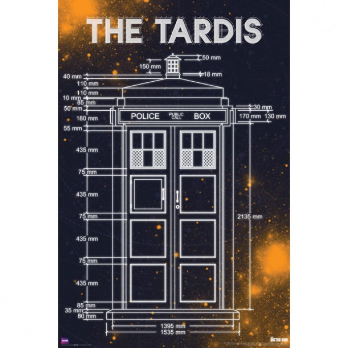 Doctor Who Tardis Measurements Poster