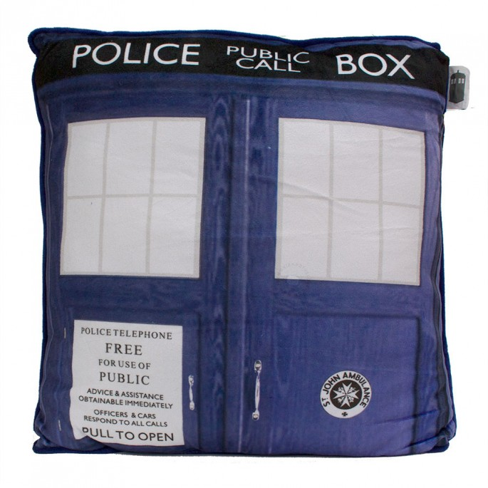 Doctor Who Tardis Photo Design Square Throw Pillow
