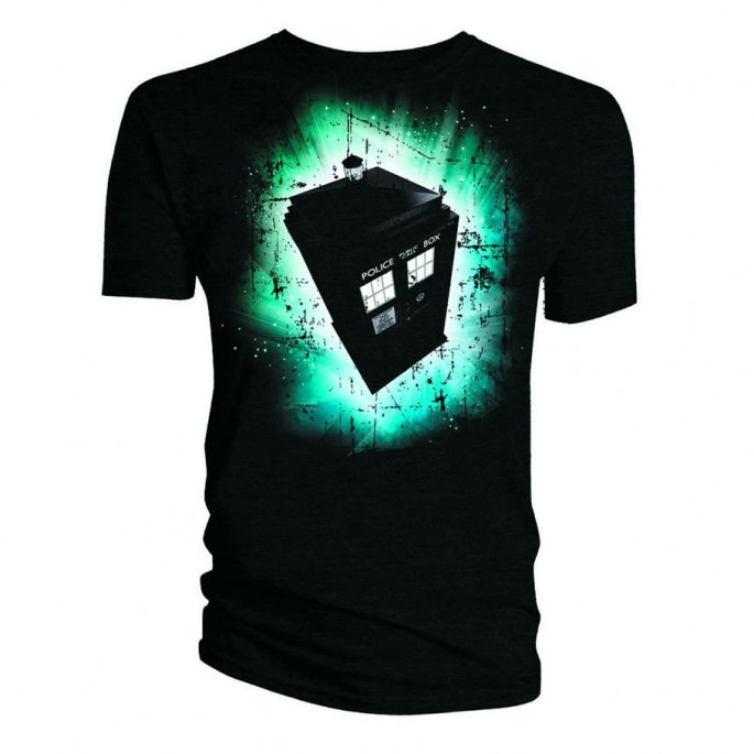 Doctor Who Tardis Vortex Titan Adult T-Shirt