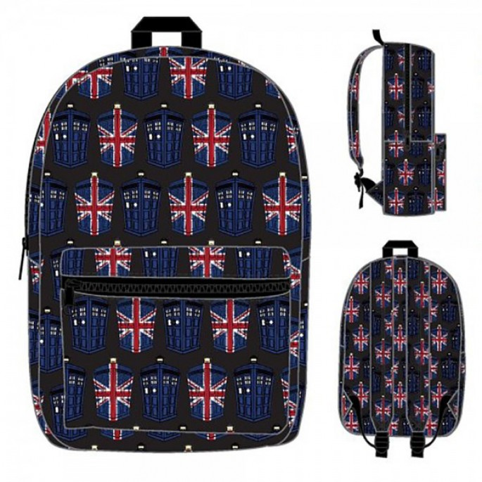 Doctor Who Tardis Union Jack Sublimated Backpack