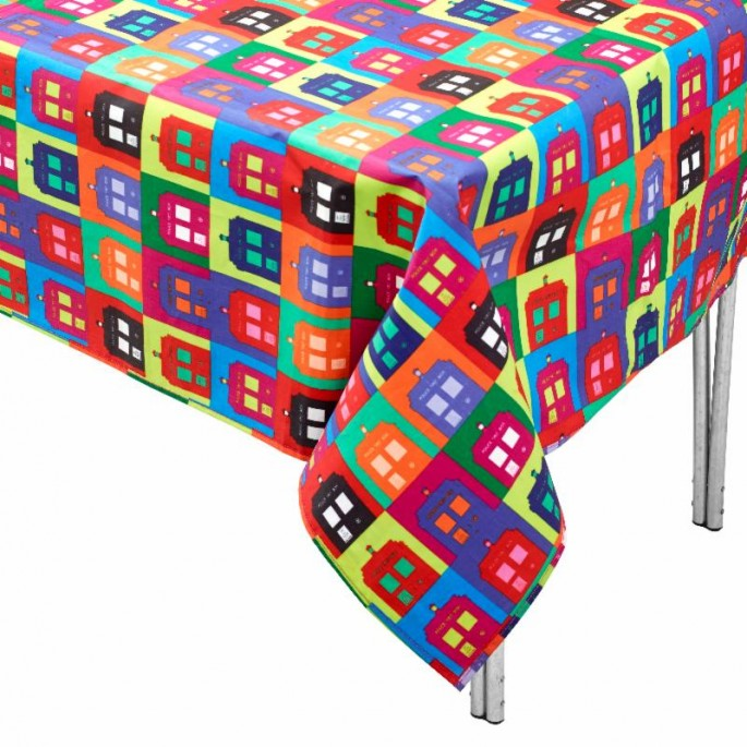 Doctor Who Warhol Style Table Cloth
