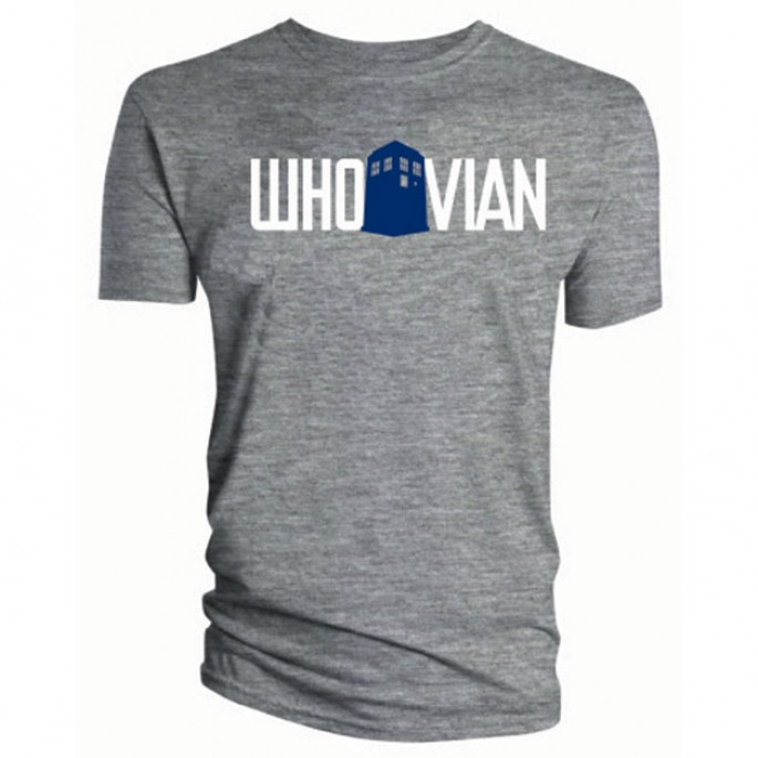 Doctor Who Whovian Gray Heather Titan Adult T-Shirt
