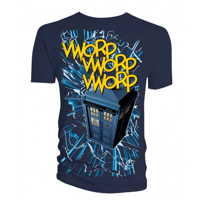 Doctor Who Worp Worp With Lines Titan Adult T-Shirt