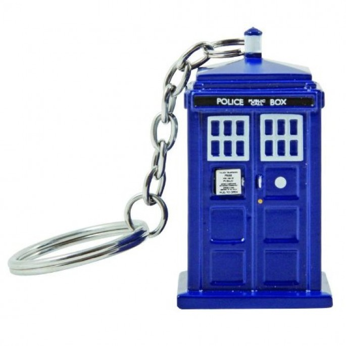 Doctor Who 11th Doctor Tardis Keychain