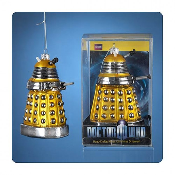 Doctor Who Yellow Dalek Drone Ornament