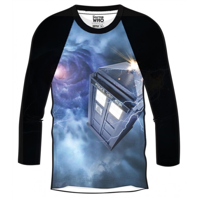 Doctor Who Tardis Space Vortex Adult Raglan Shirt