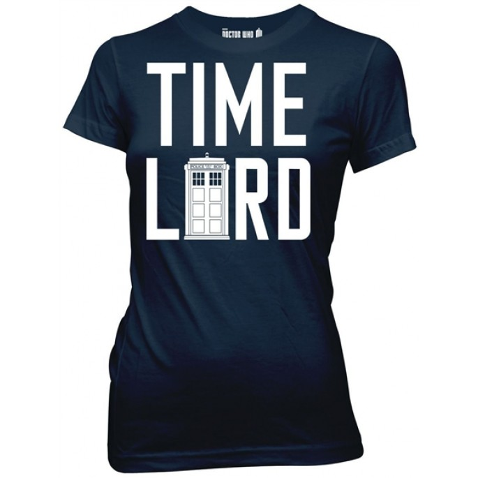 Doctor Who Time Lord with TARDIS Women's / Juniors T-Shirt