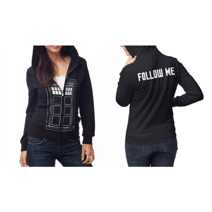 Doctor Who  Follow Me Women's / Junior Hoody Zip Hoody