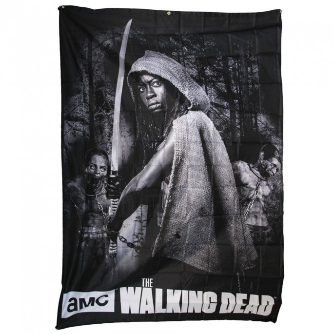 The Walking Dead Michonne Eight Foot Banner