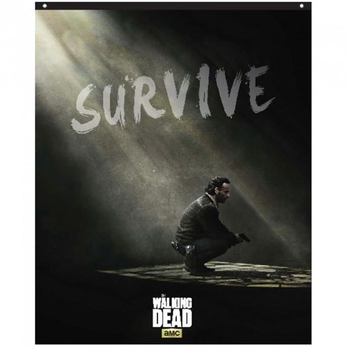 The Walking Dead Rick Survive 29in x 38in Banner