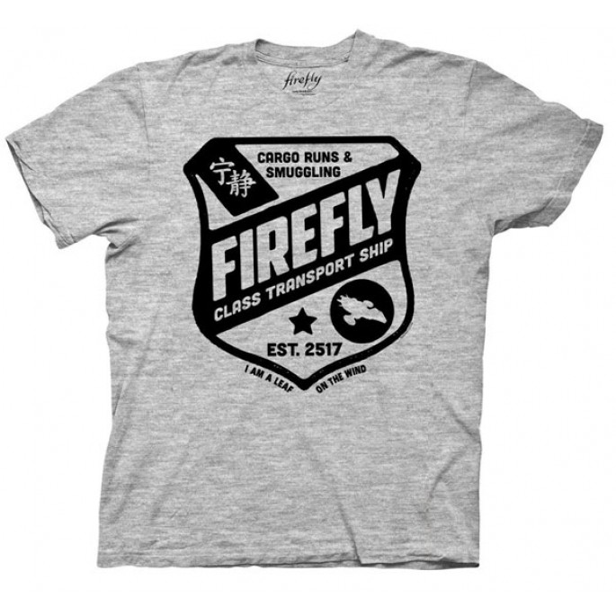Firefly Class Transport Ship Adult T-Shirt