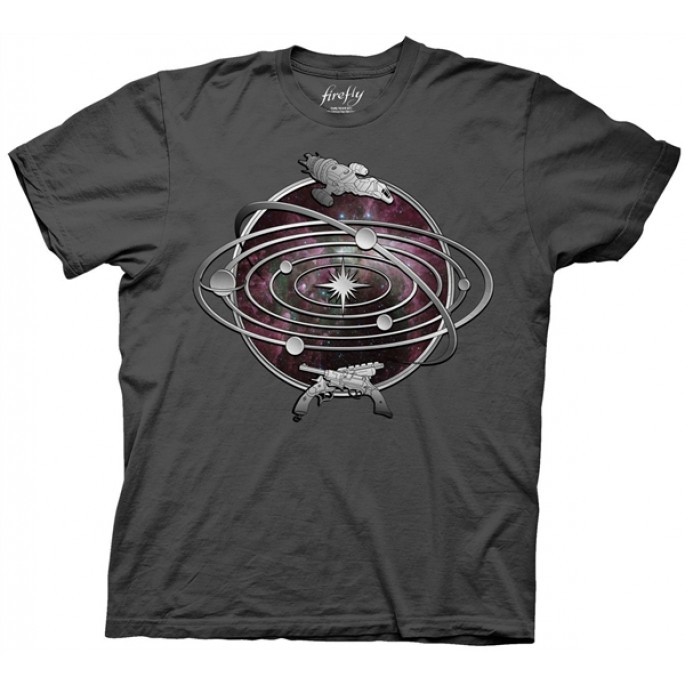 Firefly The Verse Charcoal Adult T-Shirt