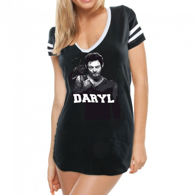 The Walking Dead Daryl Crossbow Football Shirt Juniors T-Shirt