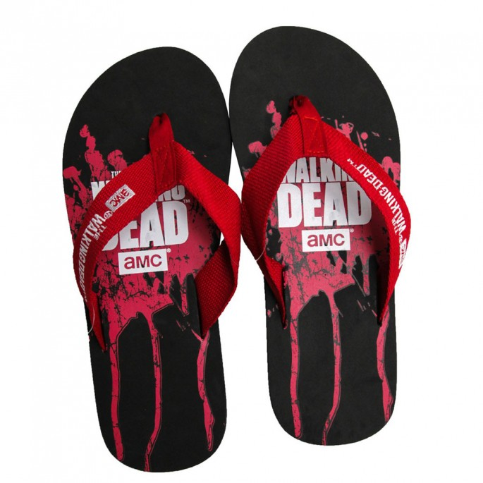 The Walking Dead Mens Flip Flops Small
