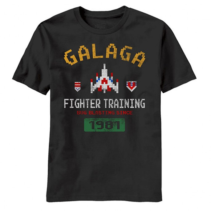 Atari Galaga Fighter Elite Adult T-Shirt