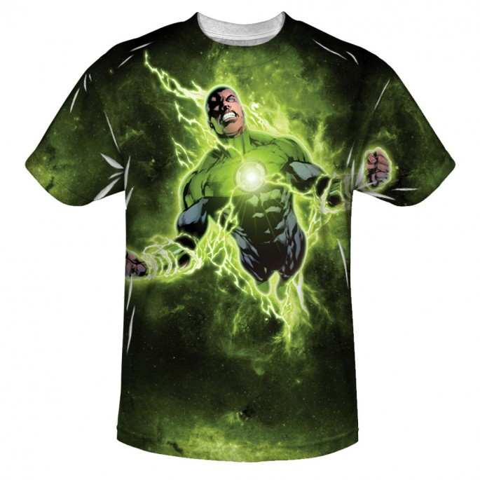 Green Lantern Inner Strength Sublimation Print Polyester Adult T-shirt