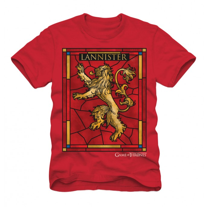 Game of Thrones Lannister Stained Glass Adult T-Shirt