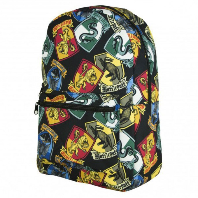 Harry Potter Crests Sublimated All Over Print Backpack - Limited Production