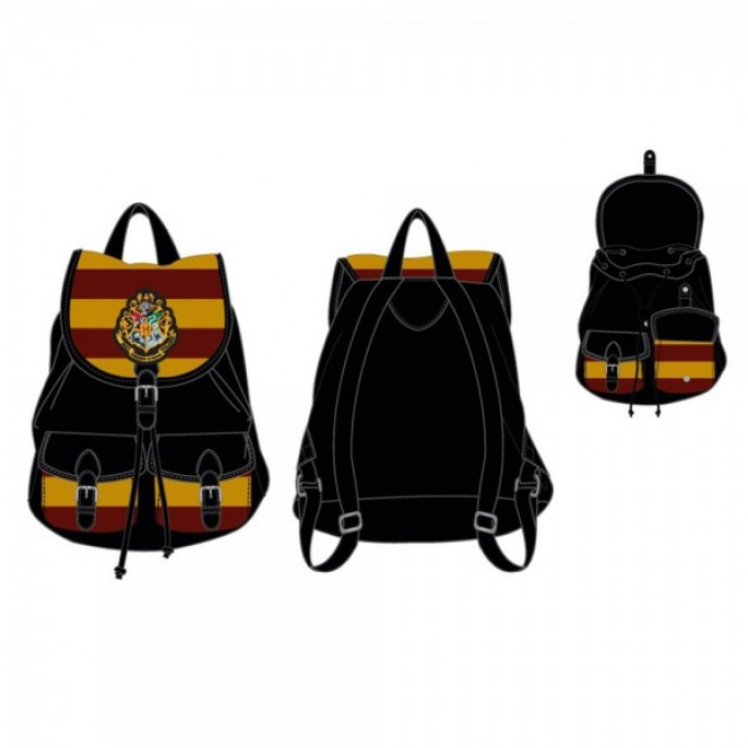 Harry Potter Hogwarts Knapsack Red Yellow Stripes
