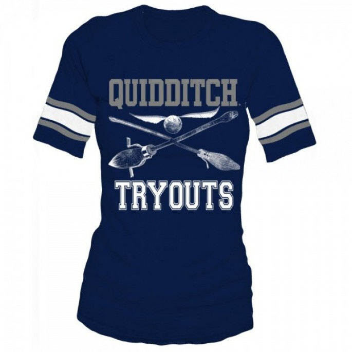 Harry Potter Quidditch Juniors Navy Hockey Tee