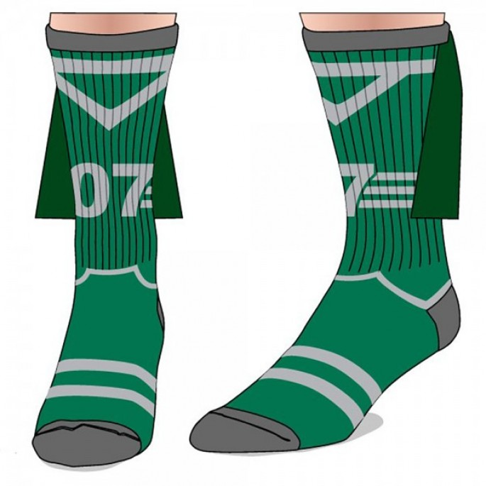 Harry Potter Slytherin Quidditch Crew Sock with Cape