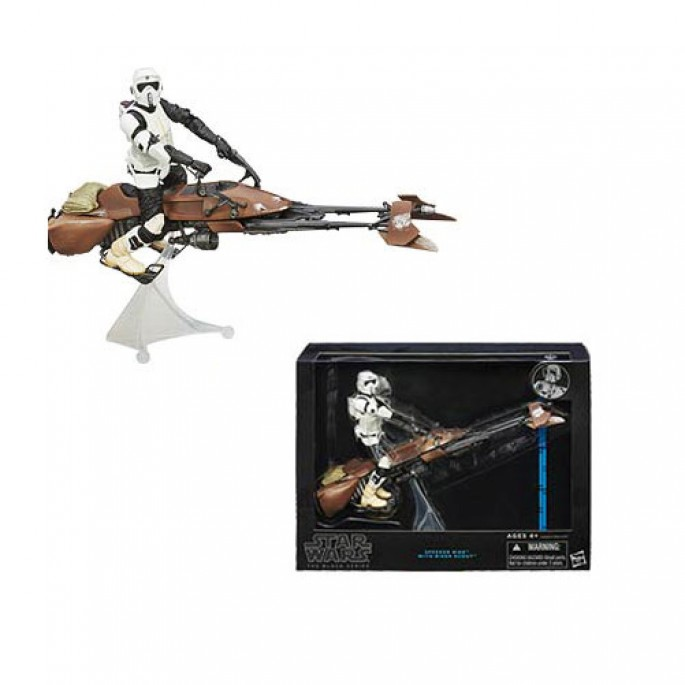 Star Wars Black Series 6-Inch Deluxe Biker Scout and Speeder Bike