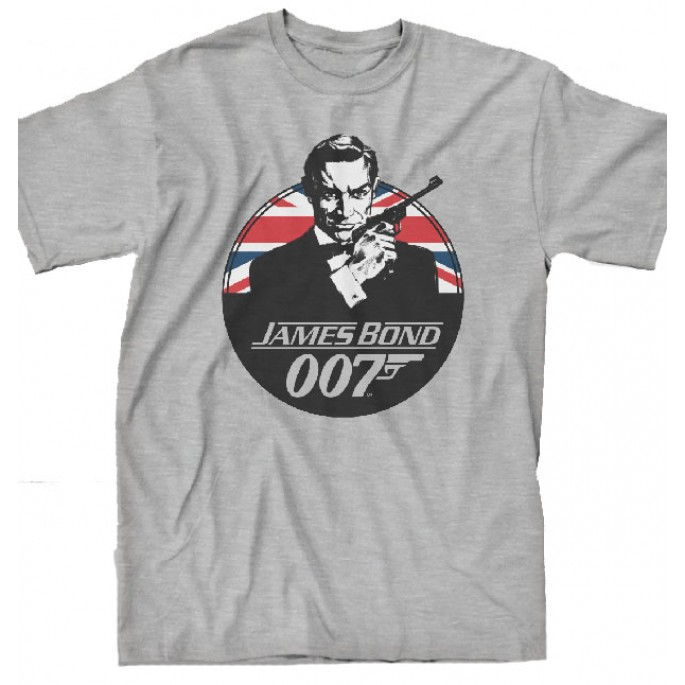 James Bond 007 Heathered Gray Adult T-Shirt