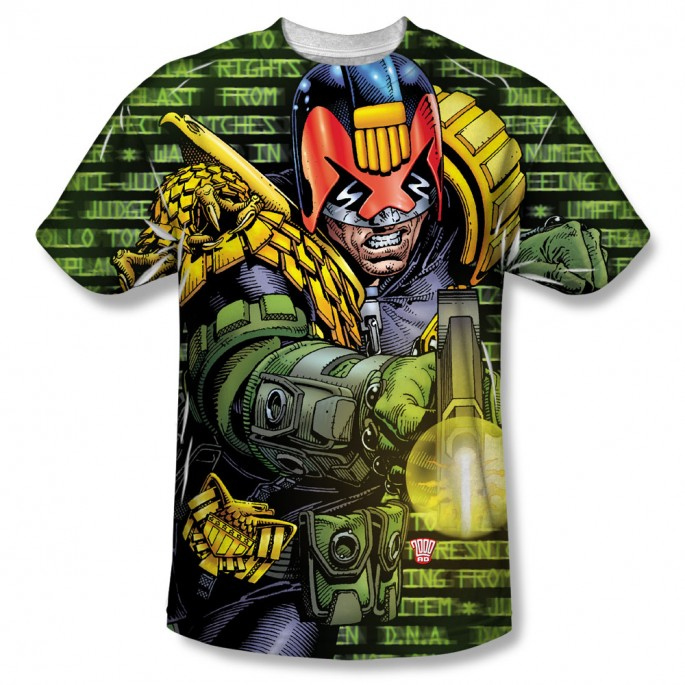 Judge Dredd Matrix One Side Adult Sublimation T-Shirt