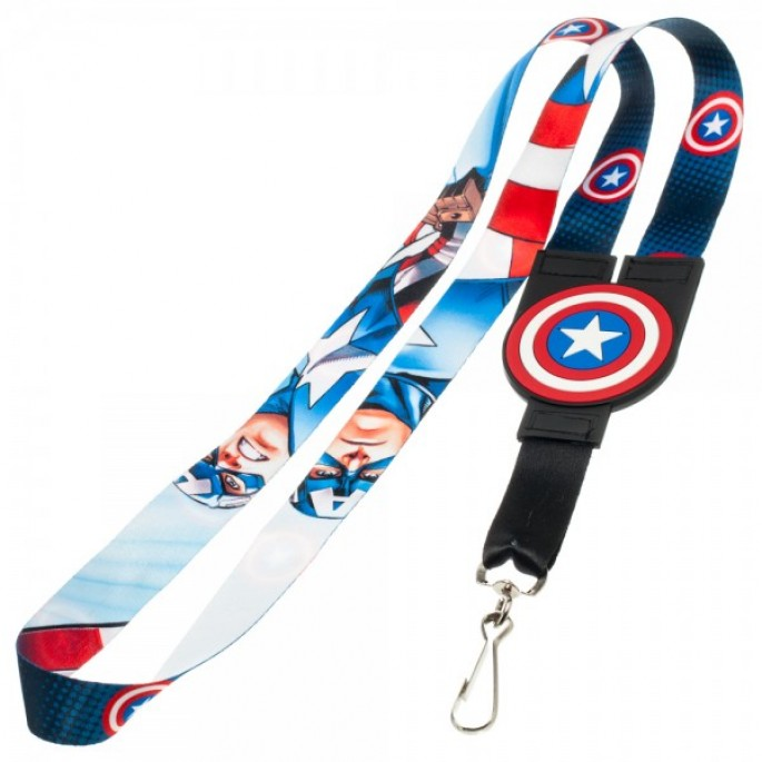 Marvel Captain America Reversible Lanyard