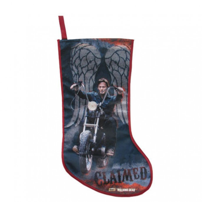 The Walking Dead Daryl Dixon on Motorcycle Christmas Stocking