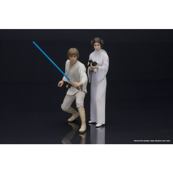 Star Wars Luke and Leia ARTFX+ Statue