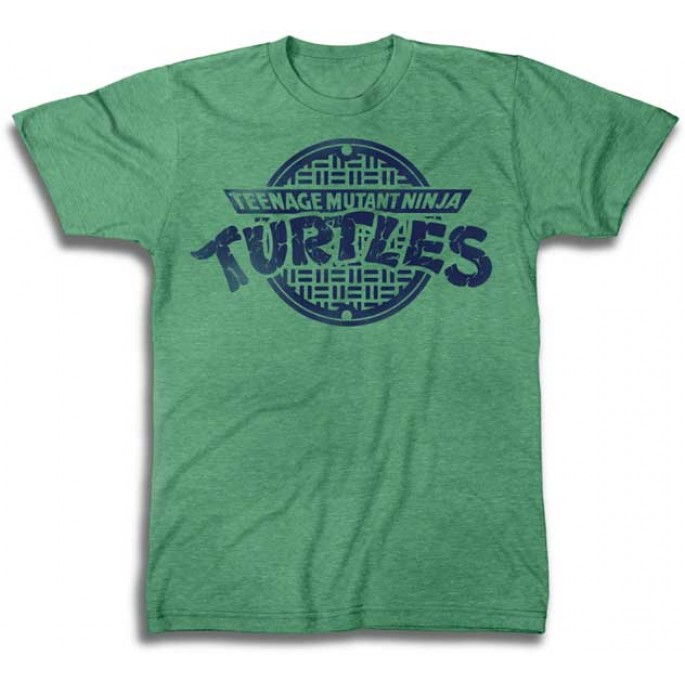 TMNT One Color Logo Kelly Green Adult T-Shirt