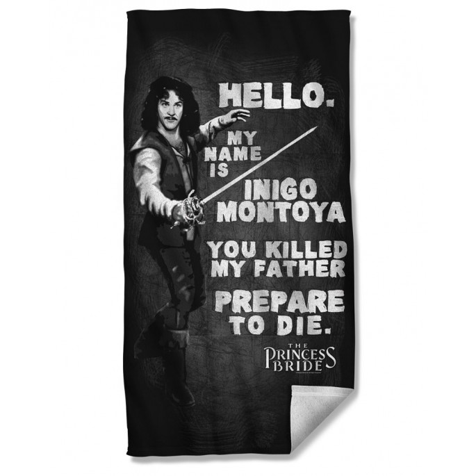 Princess Bride Hello My Name is Inigo Montoya Beach Towel