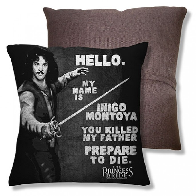 Princess Bride Hello My Name is Inigo Montoya One Sided Throw Pillow
