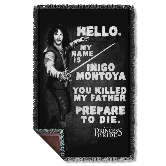 Princess Bride Hello My Name is Inigo Montoya Woven Throw