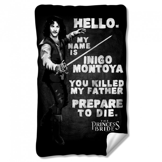 Princess Bride Hello My Name is Inigo Montoya Fleece Blanket