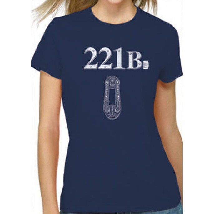 Sherlock 221B Blue Women's Juniors T-Shirt