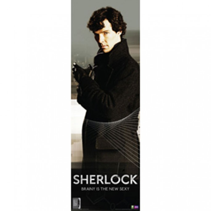 Sherlock Vertical Poster - Brainy Is The New Sexy
