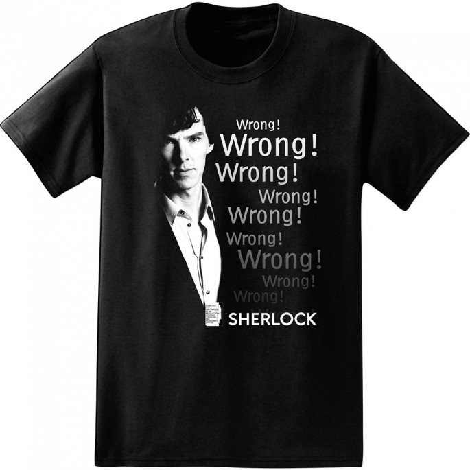 Sherlock Wrong Black Adult T-Shirt