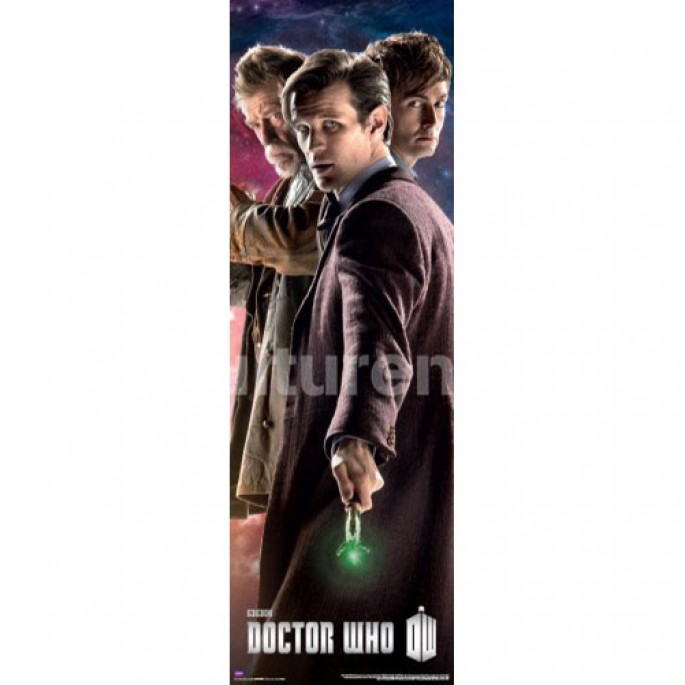 Doctor Who Three Doctors Vertical Poster
