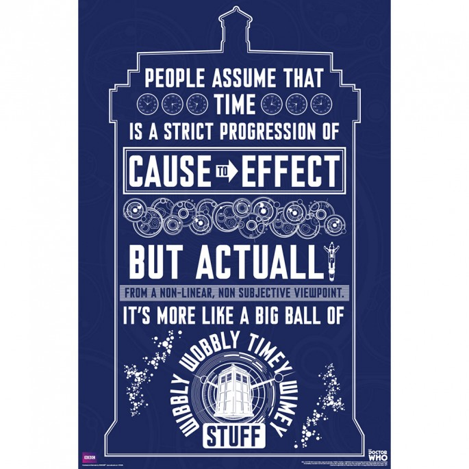 Doctor Who Wibbly Wobbly quote Poster