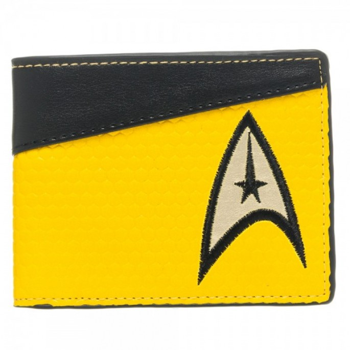 Star Trek Yellow Command Bi-Fold Wallet