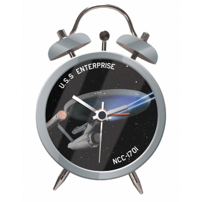 Star Trek U.S.S. Enterprise (Twin Bell Alarm Clock)